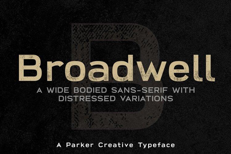 Broadwell Bold Distressed Webfont example image 1
