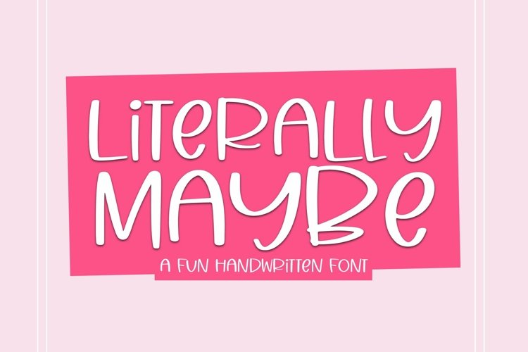 Web Font Literally Maybe - A Fun Handwritten Font example image 1