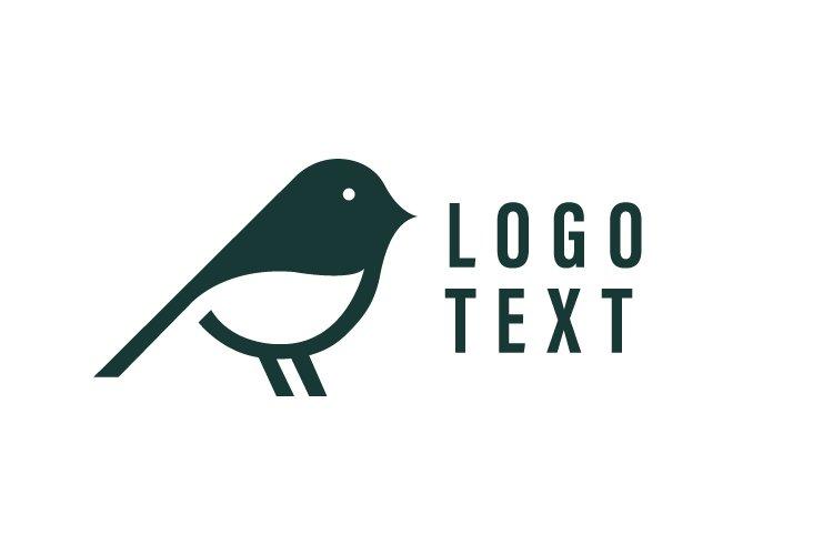 Flat bird minimalist logo vector - Eps 10 example image 1