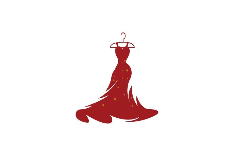 Dress Fashion Lady Logo Vector design example image 1