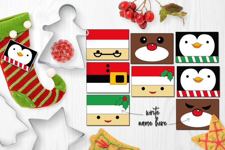Christmas Name Tags Clip art example image 1