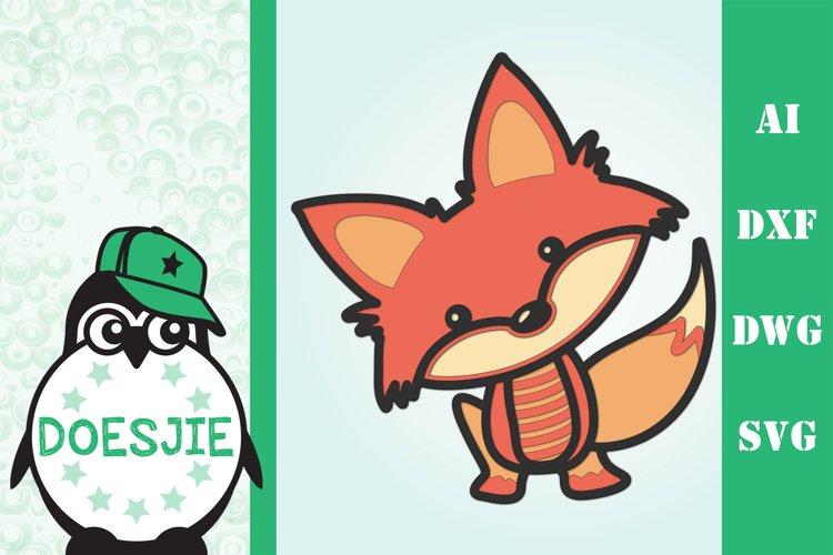 3D mandala Cute Fox example image 1