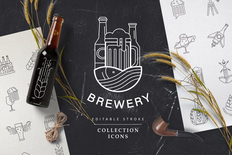 Beer and brewery icons and logos example image 1