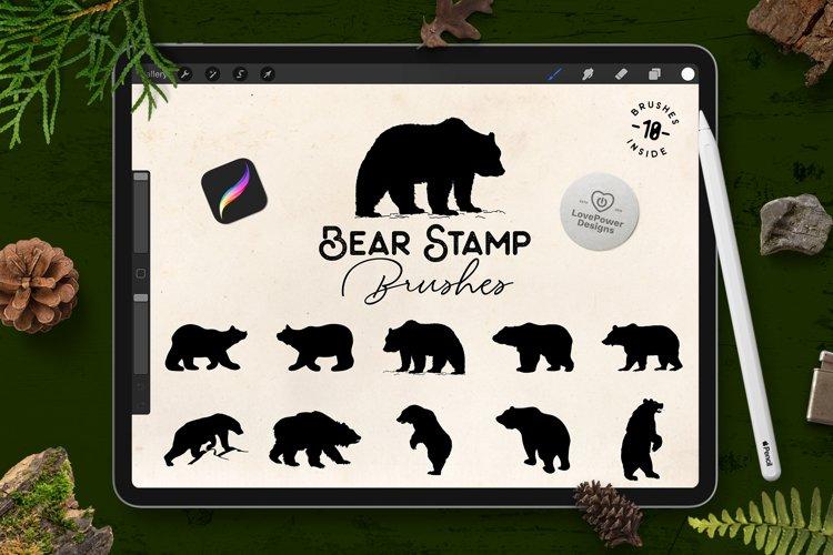Procreate Brushes   Bear Stamp Brushes for Procreate