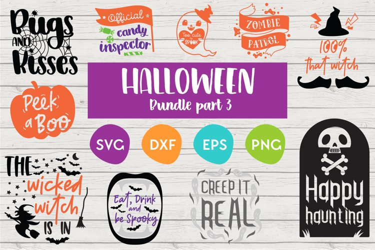 Halloween SVG Bundle | Cut files for silhouette and Cricut example image 1