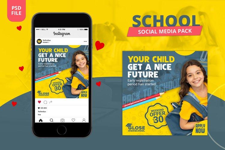 School Social Media Pack example image 1