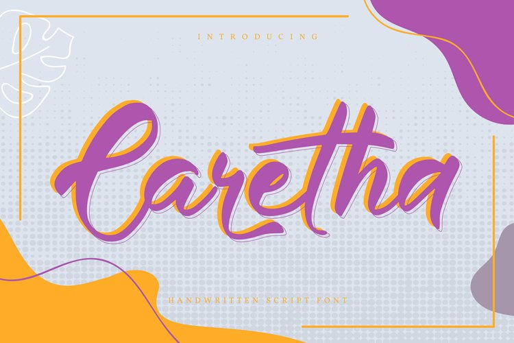 Caretha   Handwritten Script Font example image 1