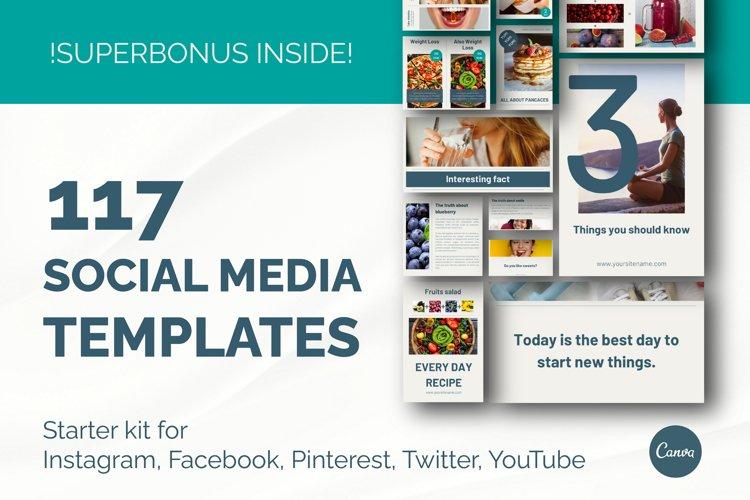 Canva Social media post templates starter kit.