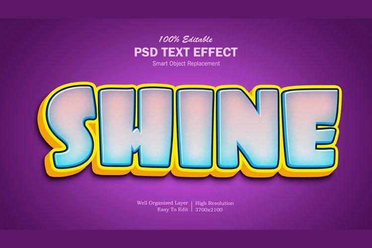 Shine 3D Editable PSD Text Effect
