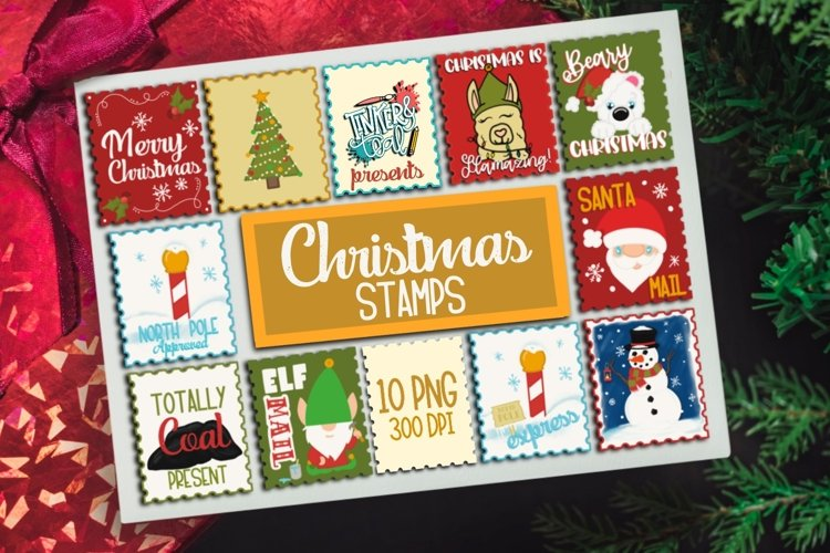 Diy Sticker Bundle - Christmas Stamp Bundle - Stickers