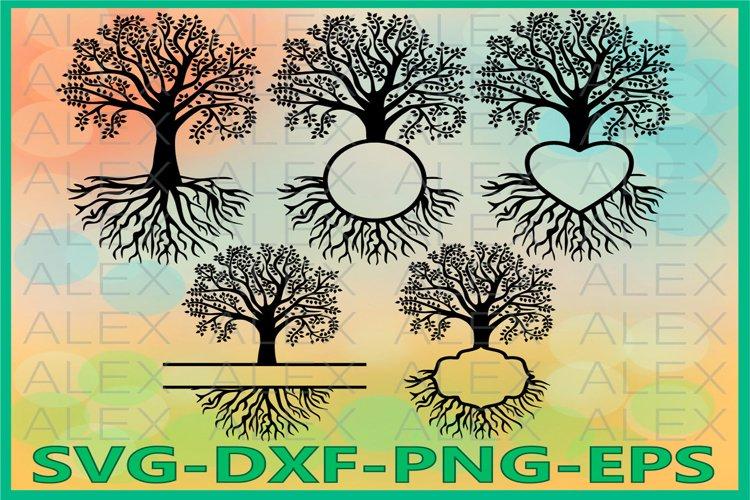 Family Tree SVG, Tree SVG Files, Tree Monogram Svg