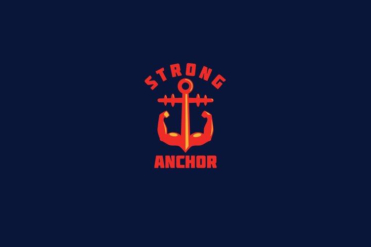 Strong Anchor Logo Template