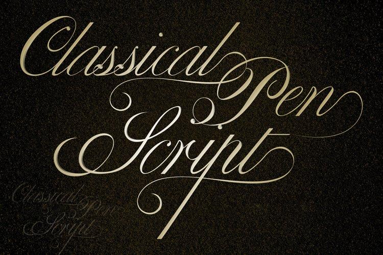 Classical Pen Script example image 1