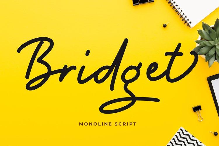 Bridget Monoline Script Font example image 1