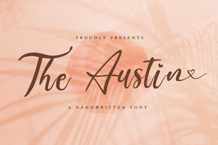 The Austin - Handwritten Script Font example image 1