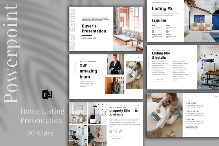 Real Estate Listing Presentation, PowerPoint example image 1
