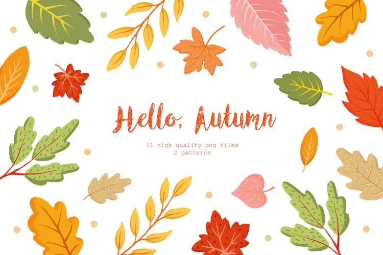 Hello, Autumn! Fall Leaves Clipart. Autumn Leaves. Botanical