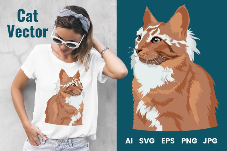 Cat Vector Illustration   Majestic example image 1