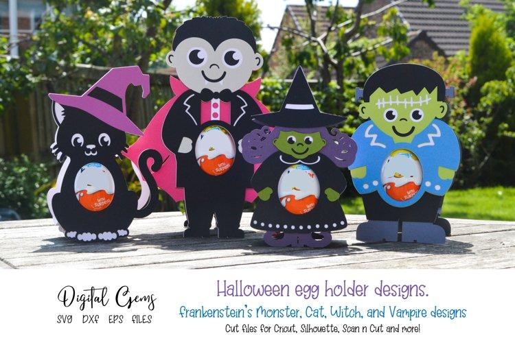 Halloween egg holder design bundle. SVG / DXF / EPS files example image 1