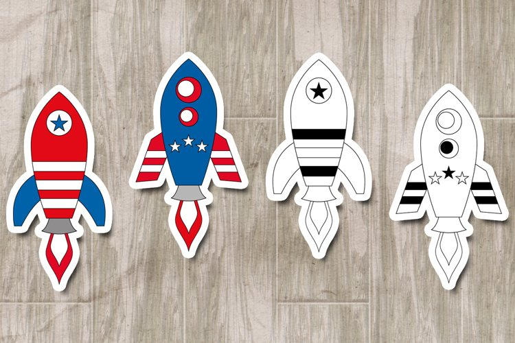 Rockets 4th of July graphics illustrations example 2
