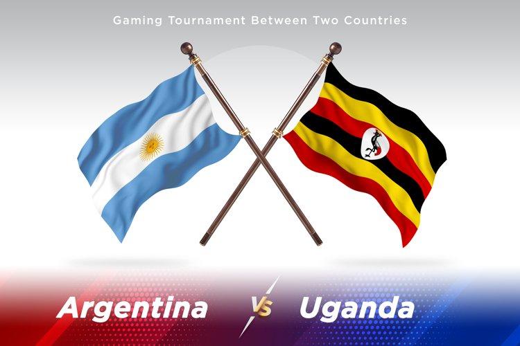 Argentina vs Uganda Two Flags example image 1