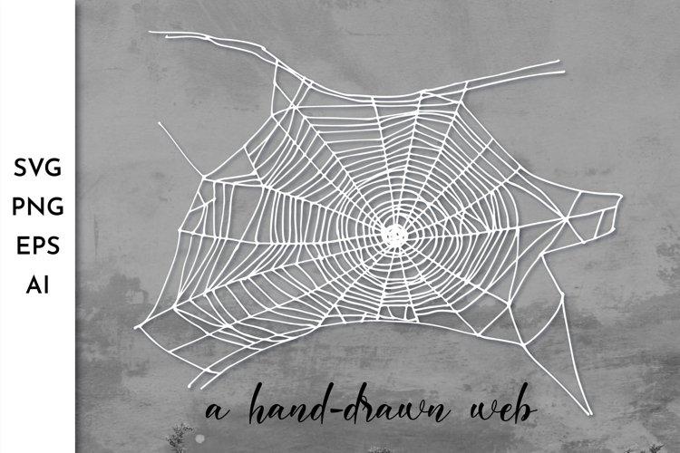 Spider web SVG. Spiderweb. Cobweb. Halloween. Spooky SVG example image 1