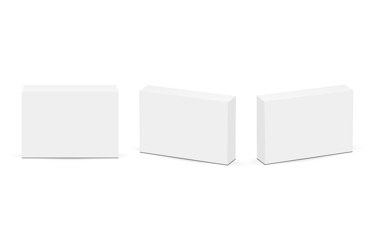 Set of Rectangular Boxes for Pills or Medicaments example image 1