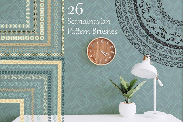 Scandinavian Pattern Brushes example image 1