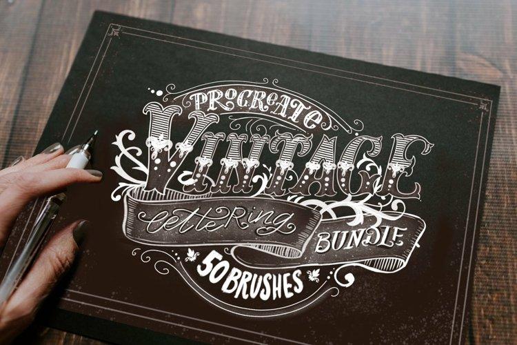 Procreate Vintage Lettering Bundle