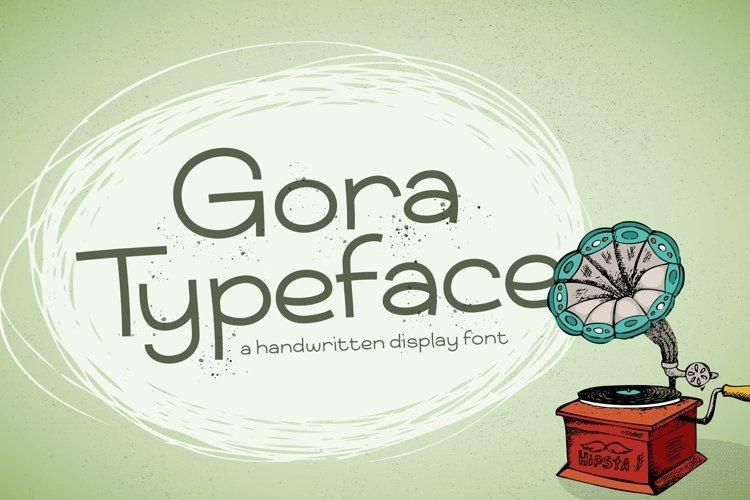 Web Font Gora example image 1