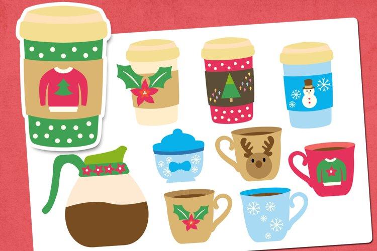 Christmas coffee illustrations