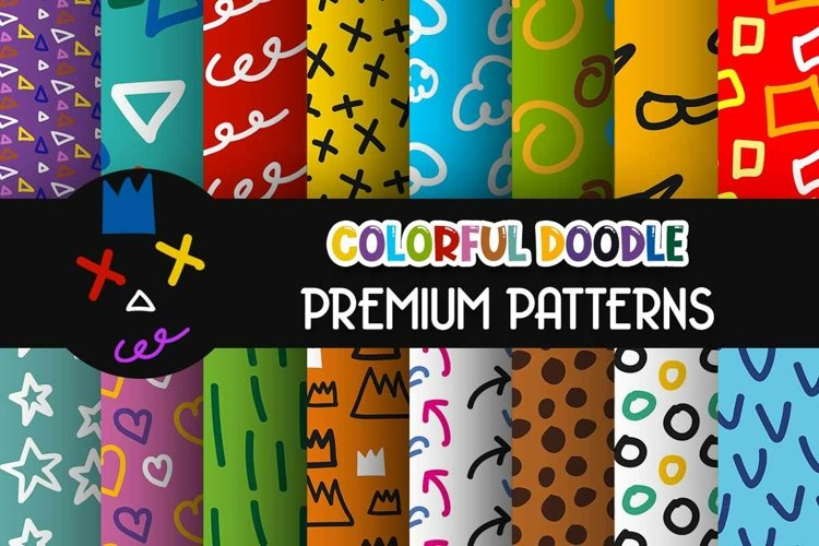 Colorful Pop Art Doodle Drawing Patterns