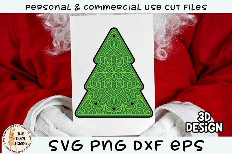 3D Layered Christmas Tree SVG