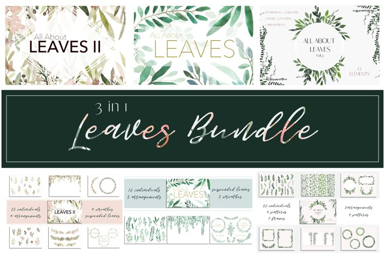3 in 1 - All About Leaves Bundle