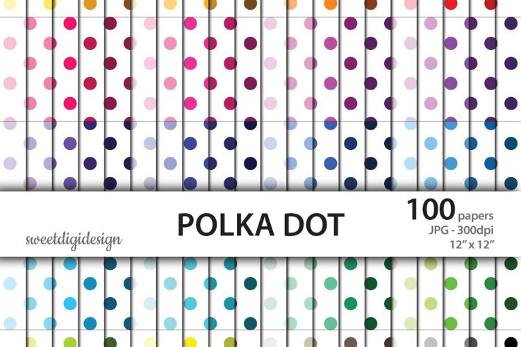 Seamless polka dot digial paper example image 1