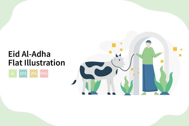Eid Al-Adha Qurban Flat Vector Illustration example image 1