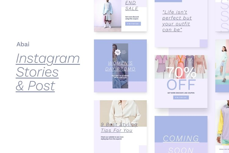 Abai - Instagram Stories and Post example image 1