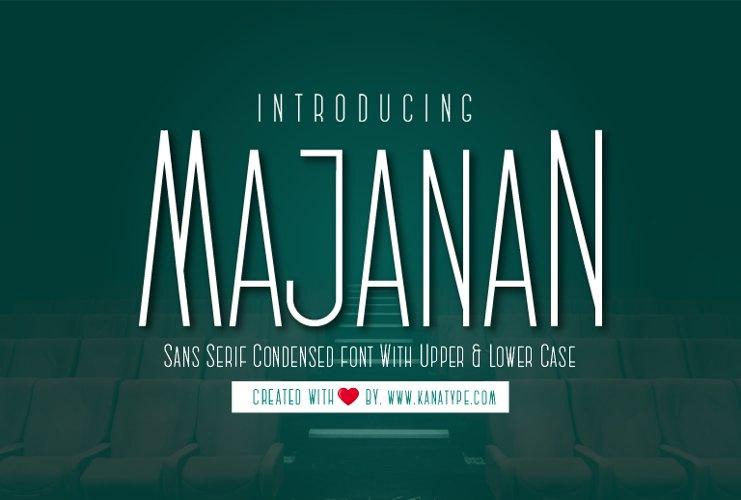 Majanan Sans Serif Condensed Font