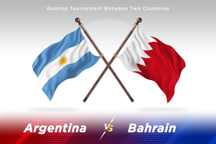 Argentina vs Bahrain Two Flags example image 1