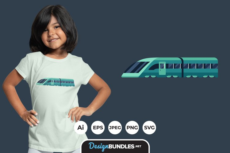 Train Illustrations for T-Shirt Design