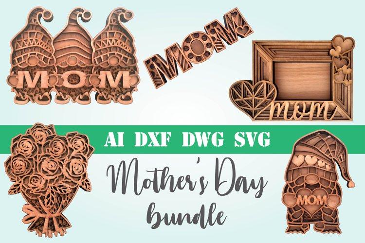Mothers Day Bundle layered 3d svg dxf Multi layer mandala