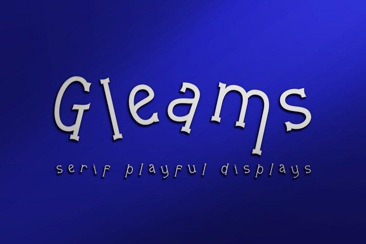 Gleams Serif Playful Display example image 1