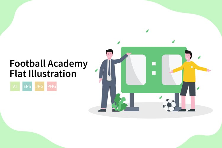 Football Academy Vector Illustration In Flat Modern Style