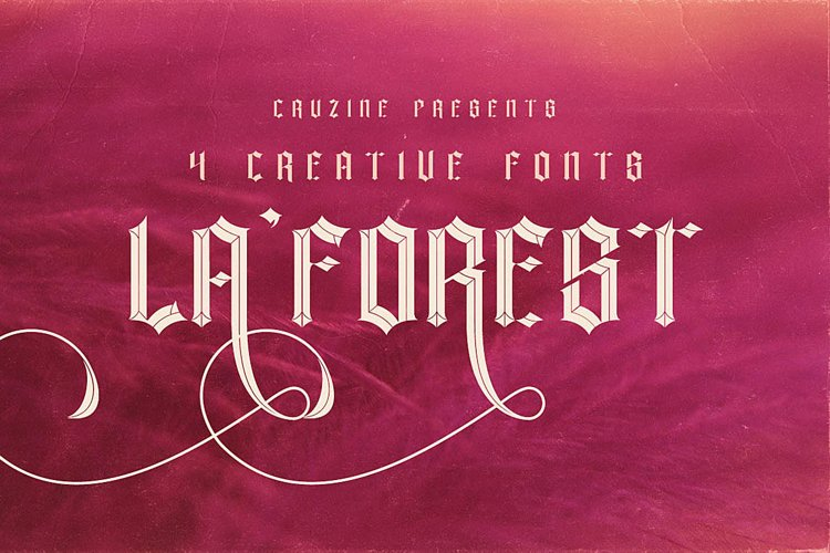 La Forest Typeface example image 1