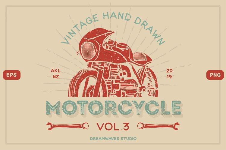 Vintage Hand-Drawn Motorcycle Vol.3