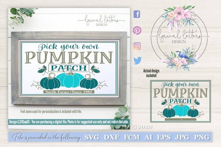 Pumpkin Patch Fall SVG Cut File LL20Sep03 example image 1