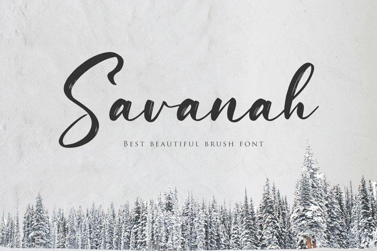 Web Font Savanah, a Brush Script Font example image 1