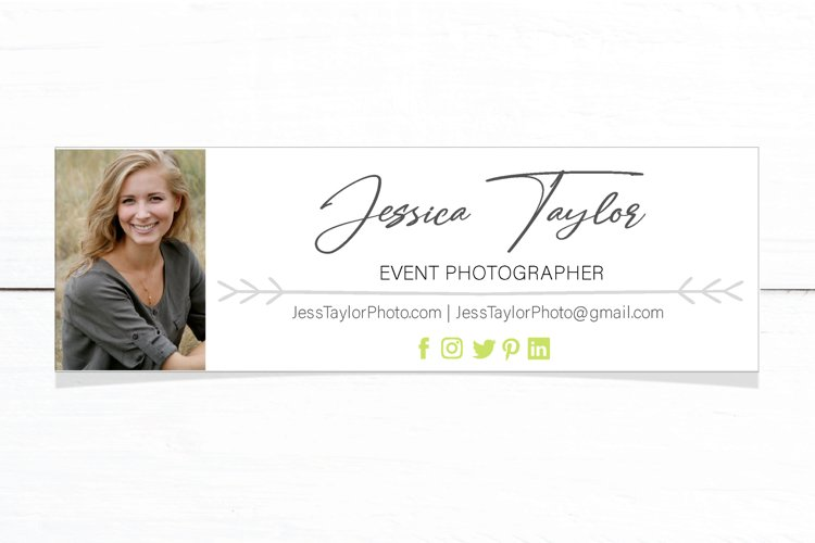 Email Signature Footer Template Editable PSD file