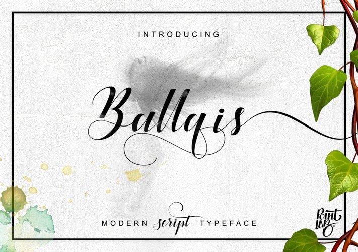 Ballqis Script_OFF 40 example image 1