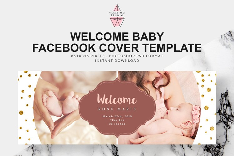 Welcome Baby Facebook Cover - FBC007